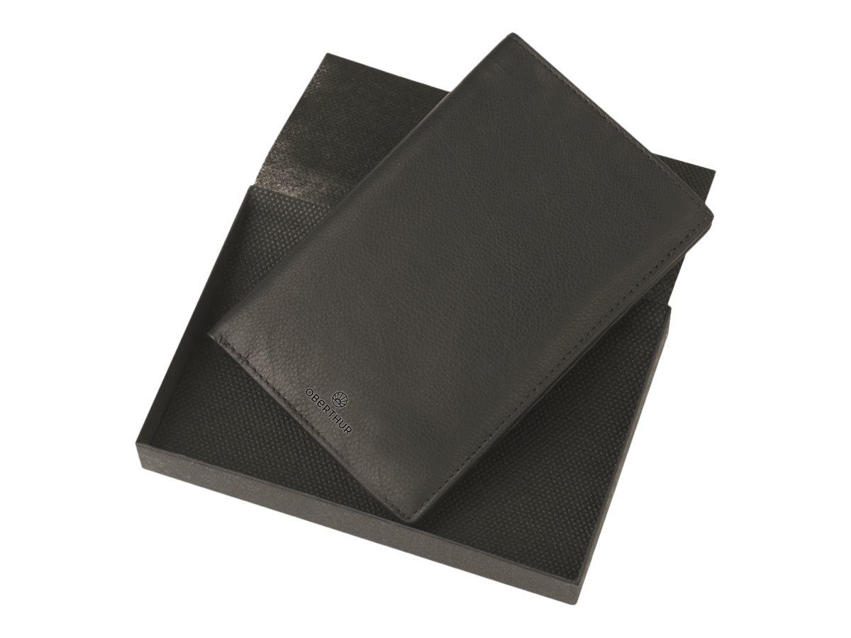 Oberthur London - Portefeuille cuir noir