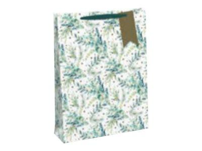 Clairefontaine Eurowrap - Sac cadeau pour bouteille - 12,7 x 9 x 33,5 cm - feuilles Noël
