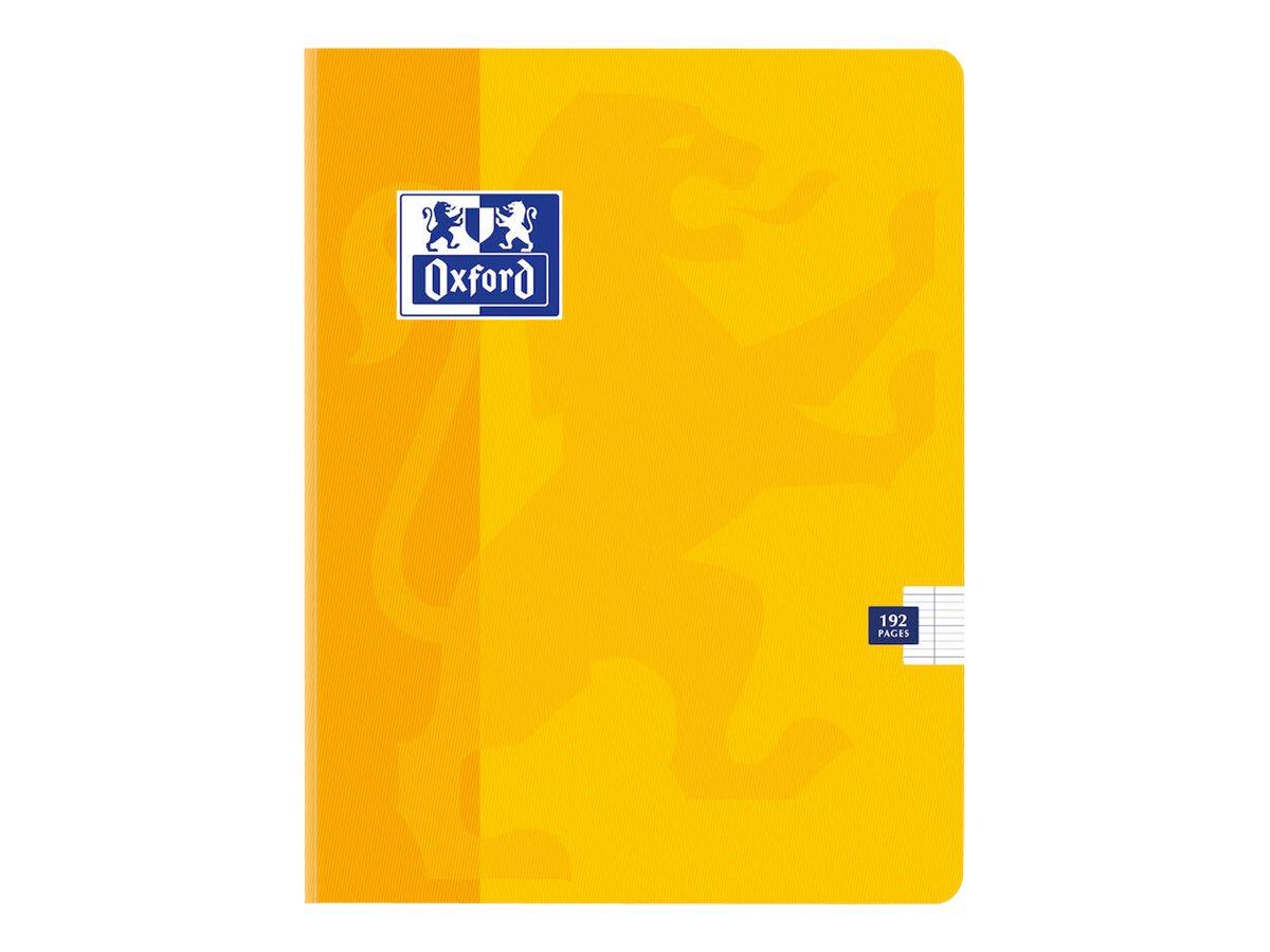 Oxford - Cahier broché 17 x 22 cm - 192 pages - grands carreaux (Seyes) - disponible dans différentes couleurs