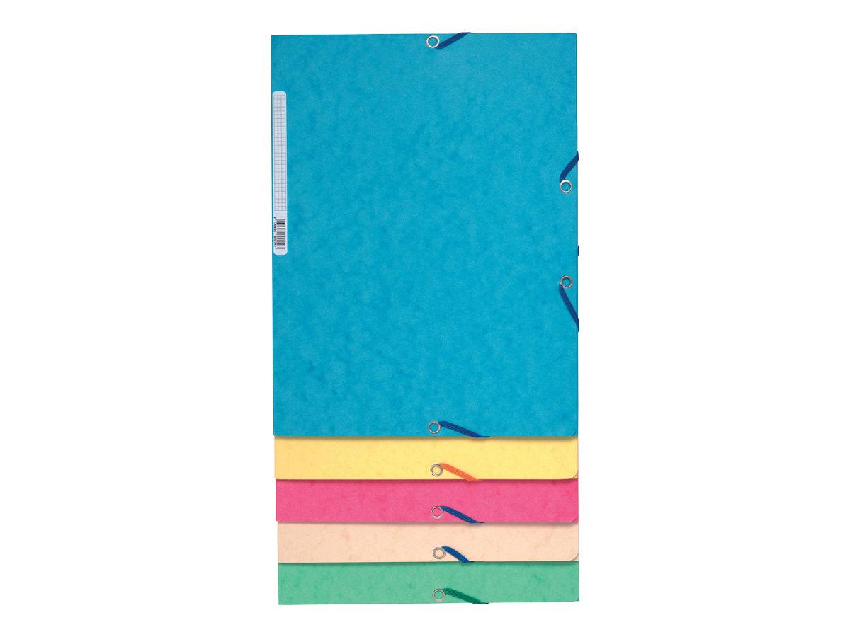 Exacompta Nature Future - 10 Chemises à 3 rabats - A4 - pour 250 feuilles - couleurs pastels assorties