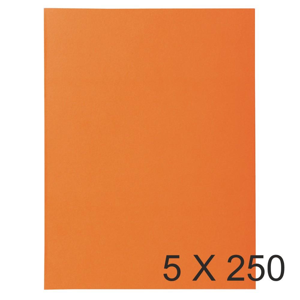 Exacompta Super 60 - 5 Paquets de 250 Sous-chemises - 60 gr - orange