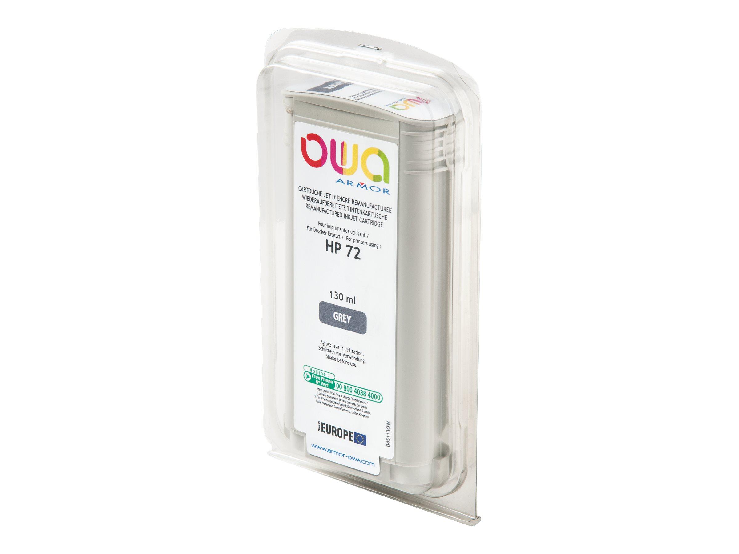 HP 72 - remanufacturé OWA B45113OW - gris - cartouche d'encre