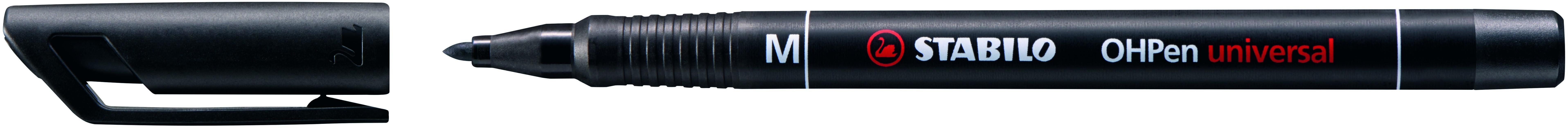 STABILO OHPEN - Marqueur permanent - pointe moyenne 1 mm - noir