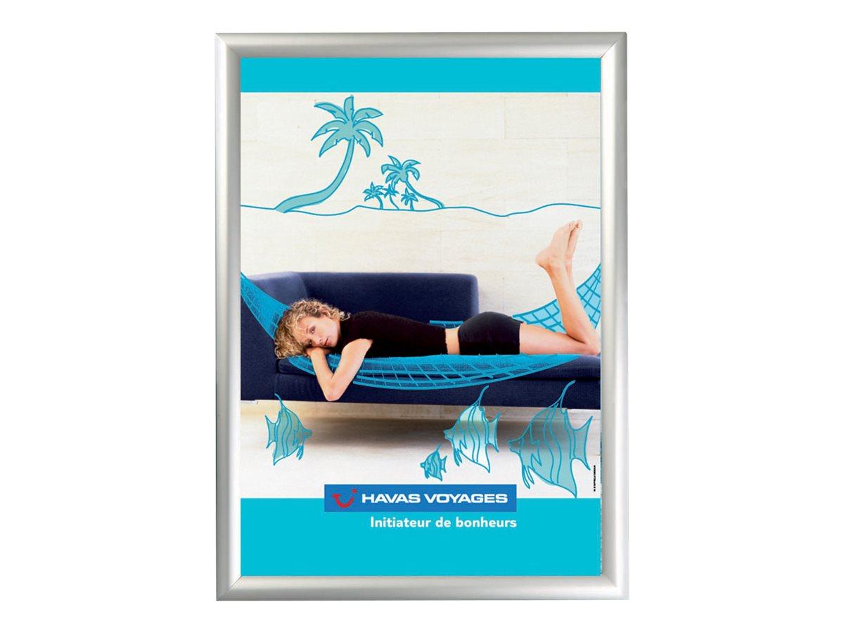 Promocome Clipframe - Cadre d'affichage clippant - coins carrés - 80 x 120 cm