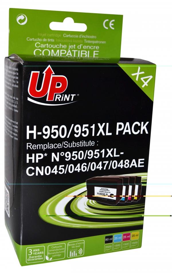 HP 950XL/951XL - remanufacturé UPrint H.950/951XL - pack de 4 - noir, cyan, magenta, jaune - cartouche d'encre