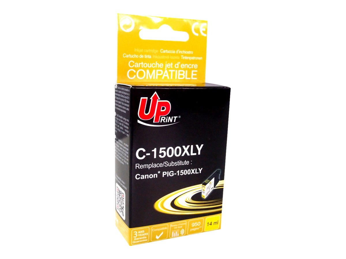 Canon PGI-1500XL - compatible UPrint C.1500XLY - jaune - cartouche d'encre