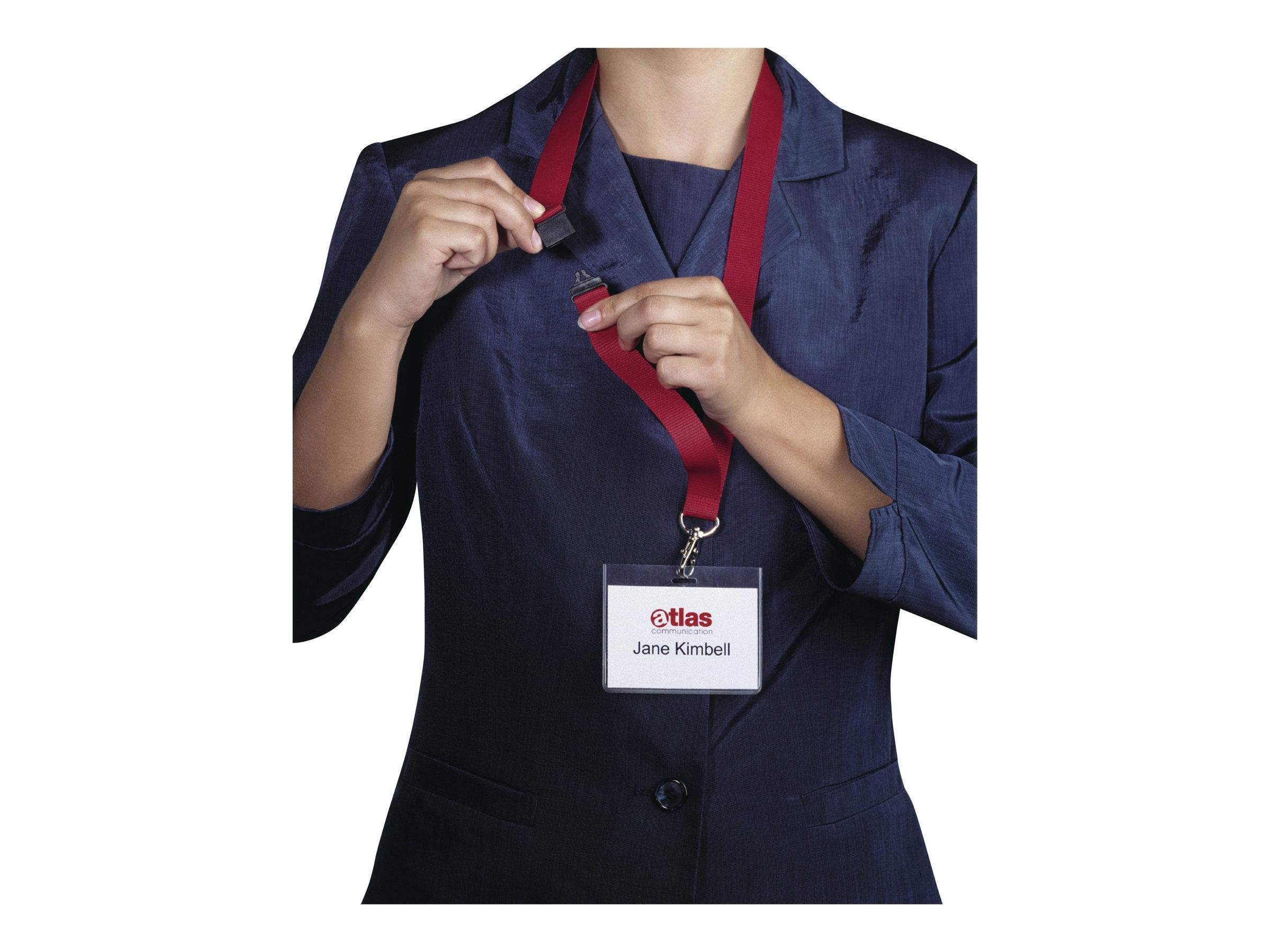 Durable - 10 Lacets pour badge - cordon détachable - rouge