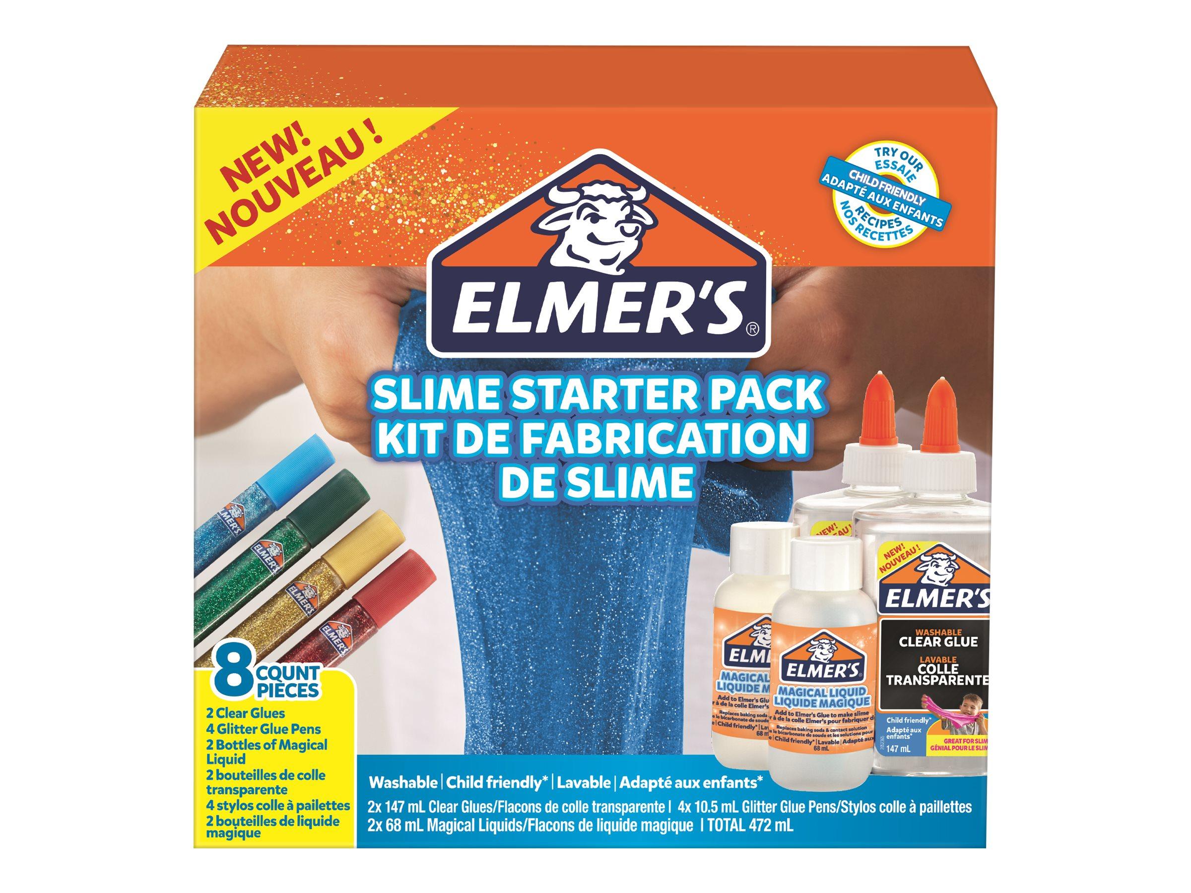 Elmers - Kit de préparation pour slime avec colle blanche et paillettes