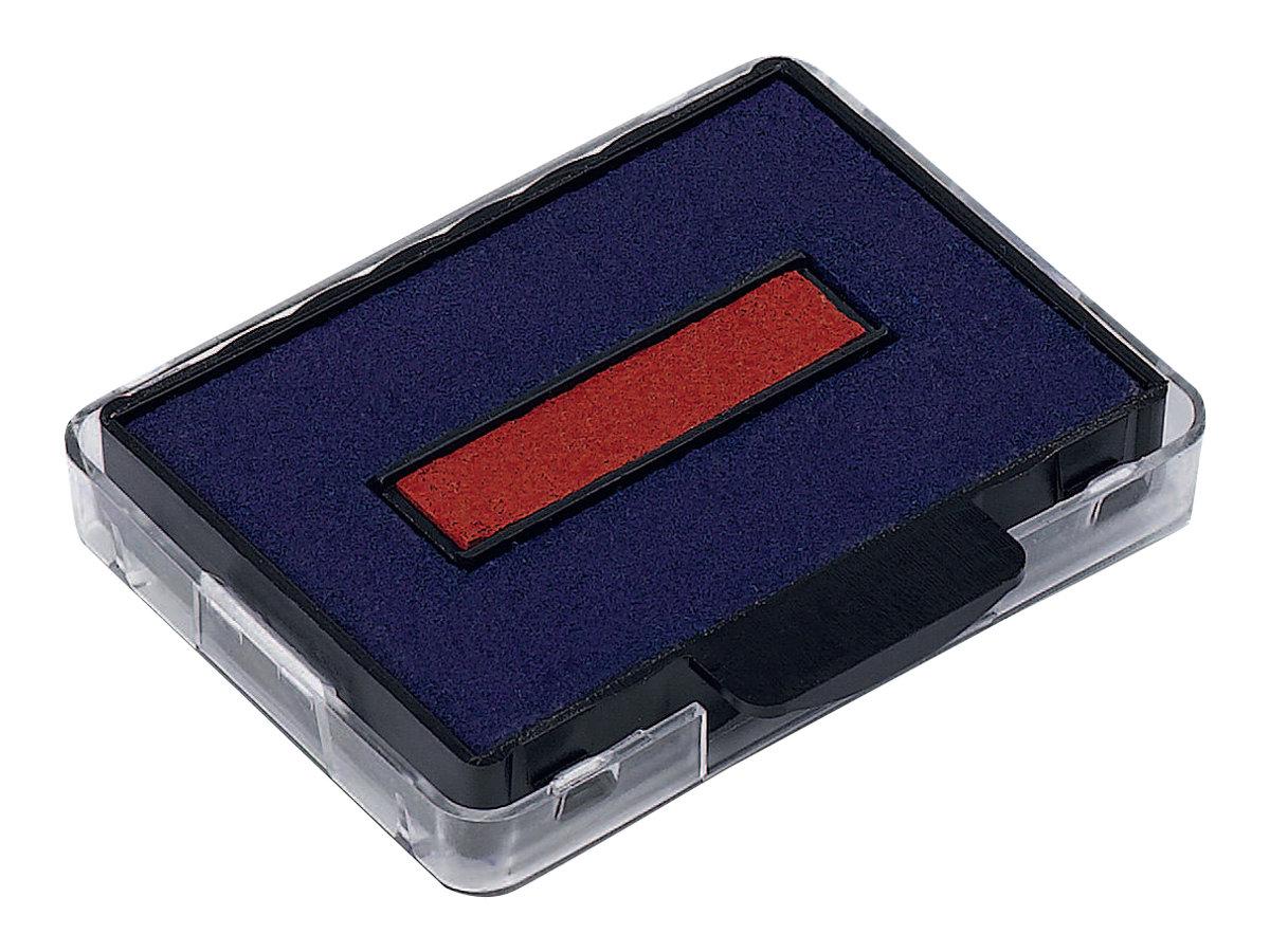 Trodat - 3 Encriers bicolores 6/50/2 recharges pour tampon 5430/5431/5435 - bleu/rouge
