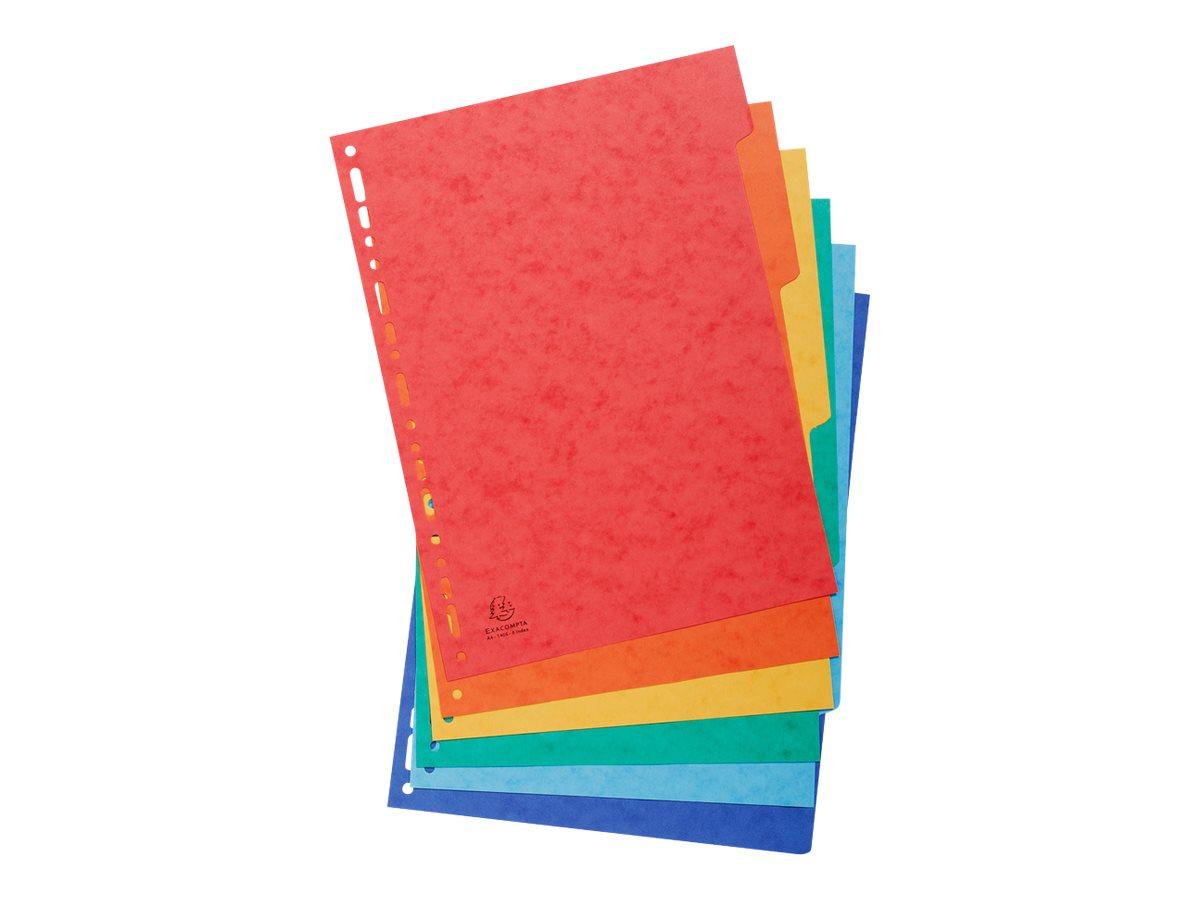 Exacompta Nature Future - Intercalaire 6 positions - A4 - carte lustrée colorée