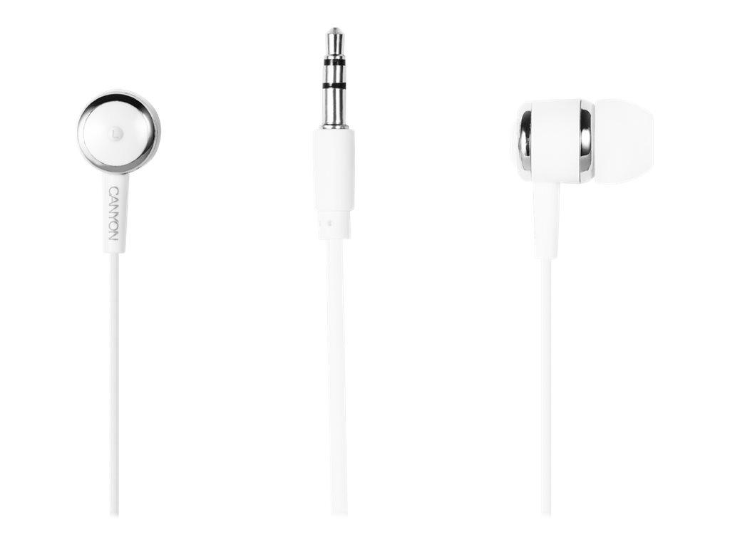 CANYON Kit main libre - Ecouteurs filaire avec micro - intra-auriculaire - blanc