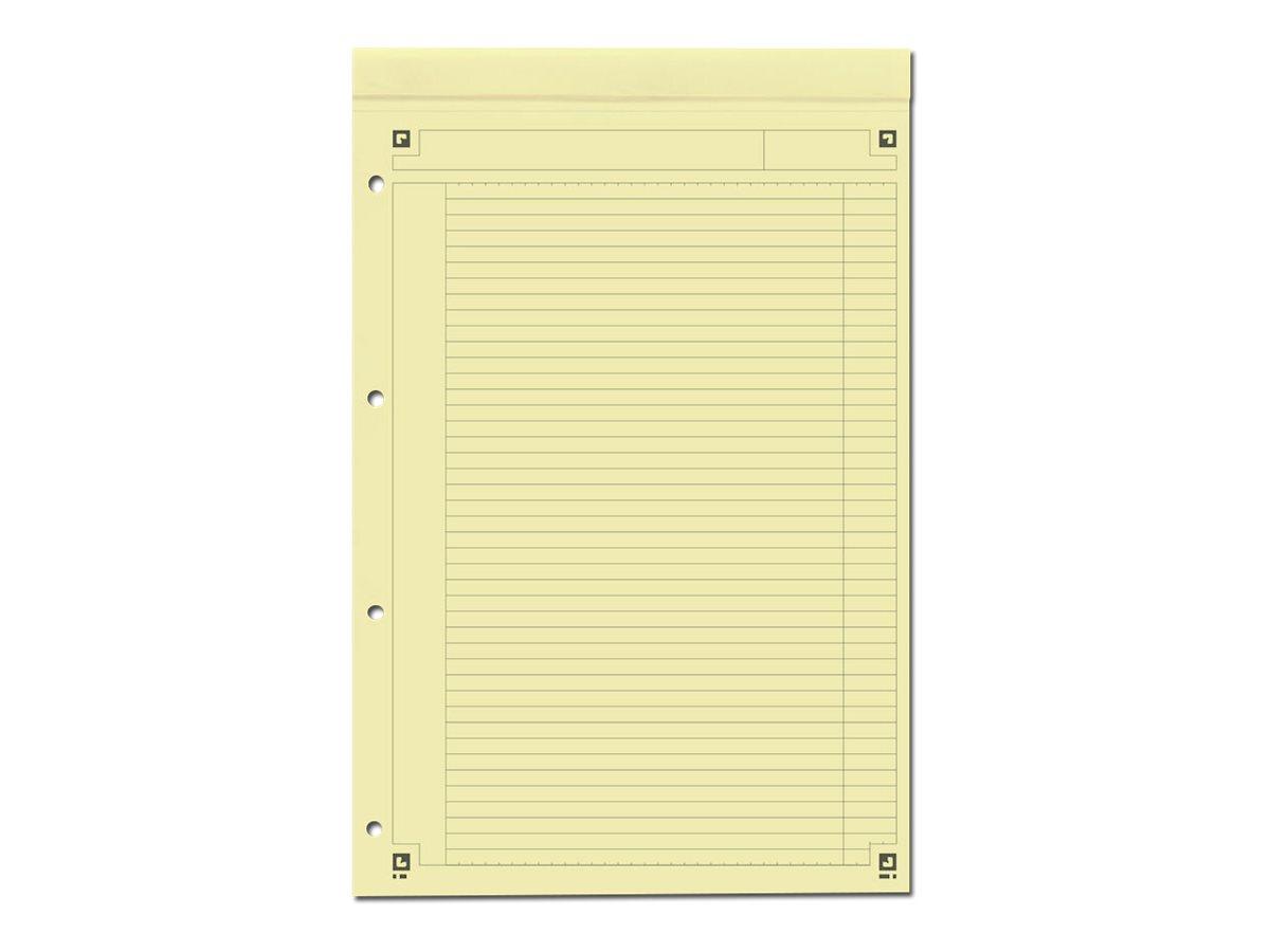 Oxford International - Bloc notes - A4 + - 160 pages - ligné jaune - perforé