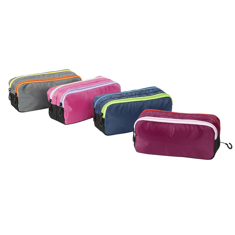 Trousse rectangulaire King Size Double - 2 compartiments - 4 coloris disponibles - Viquel
