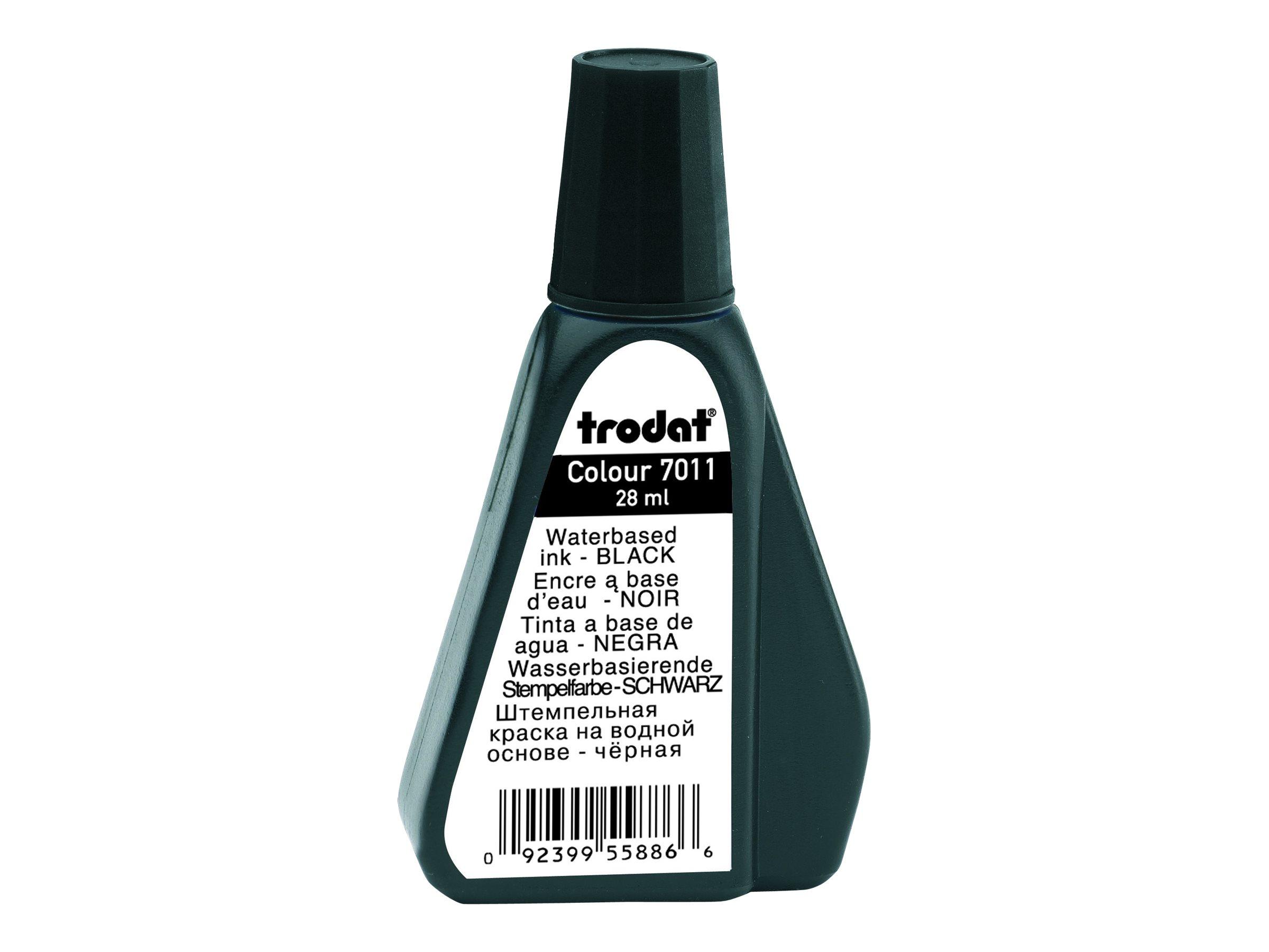 Trodat - Encre pour tampon - noir - 28 ml