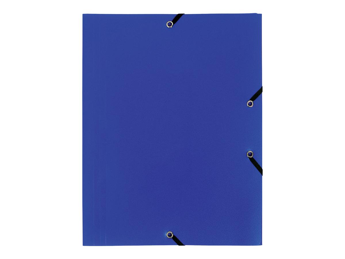 Exacompta - Chemise polypro à rabats - A4 - pour 150 feuilles - bleu opaque