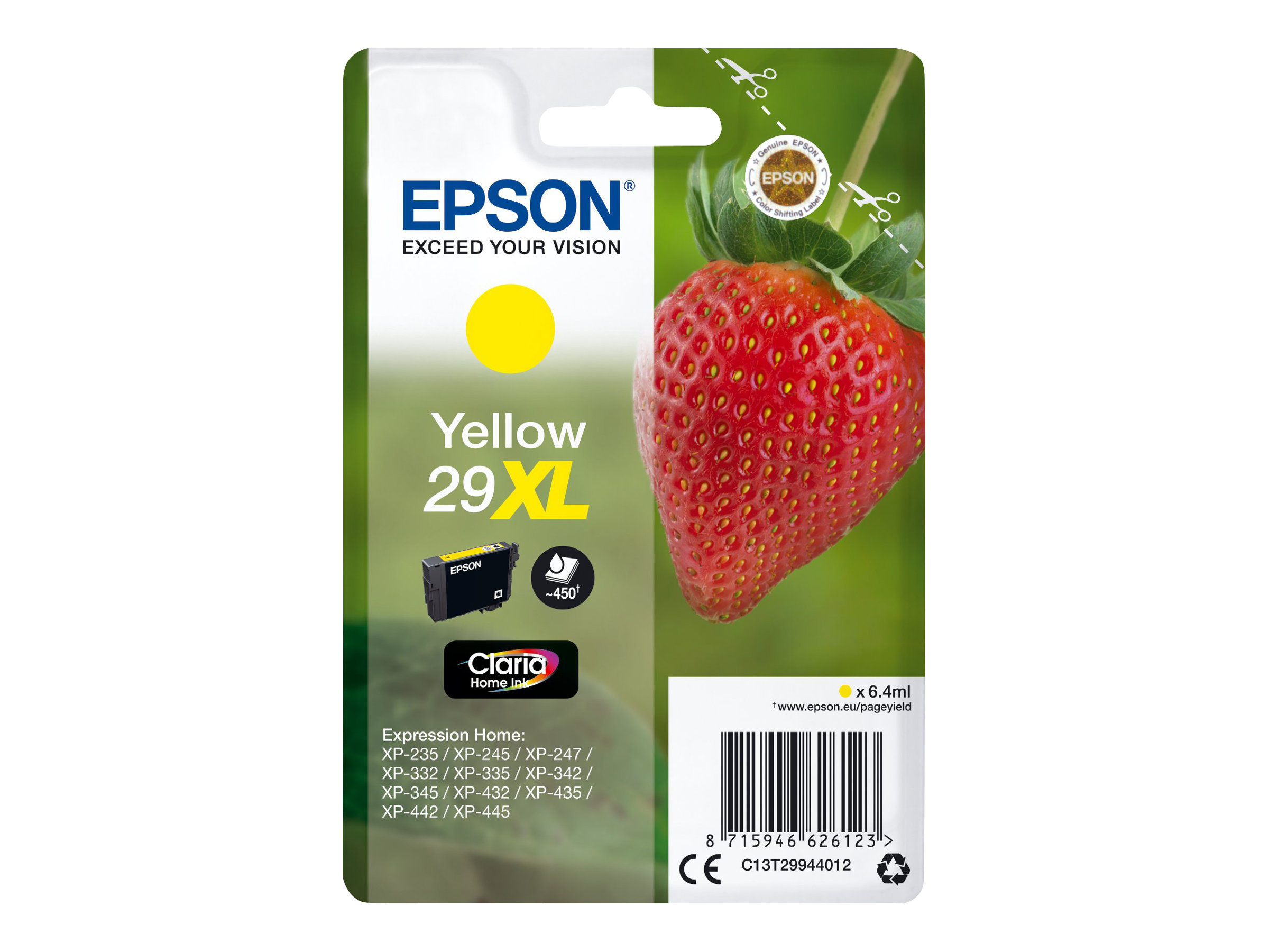 Epson 29XL Fraise - jaune - cartouche d'encre originale