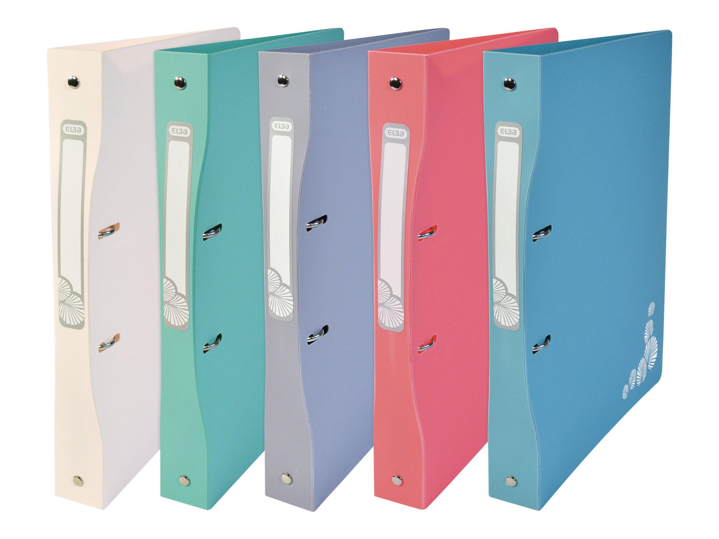 Oxford - Classeur à anneaux - Dos 40 mm - A4 Maxi - pour 225 feuilles - disponible dans différentes couleurs pastels