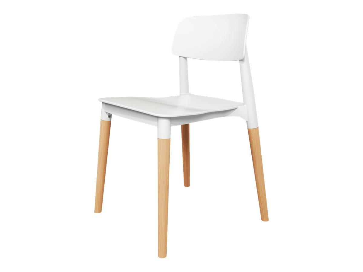 Chaise SCANDINAVE - pieds bois - blanc