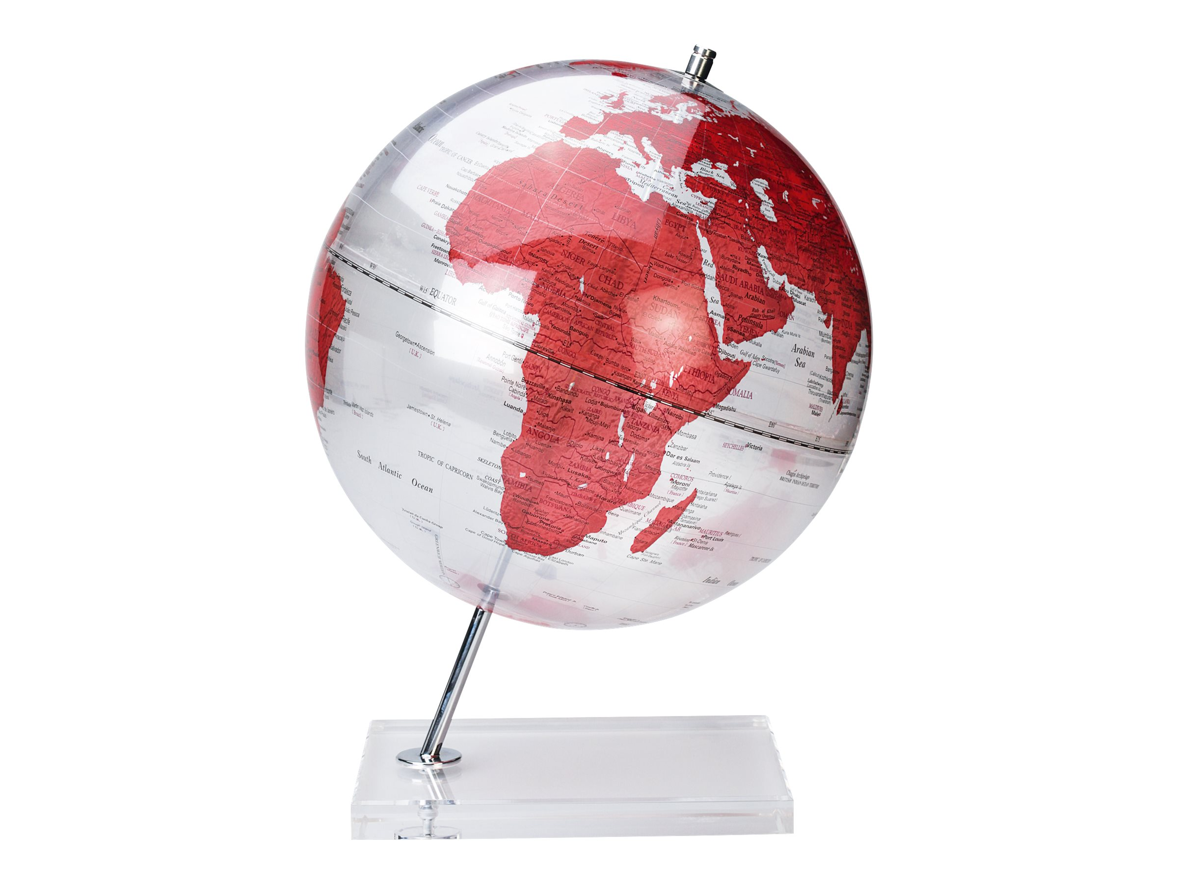 Sign Deco - Globe non lumineux 30 cm - rouge