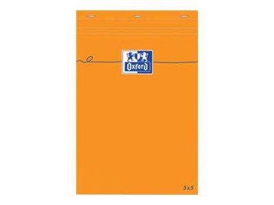 Oxford - Pack de 5 Blocs notes - A5 - 160 pages - petits carreaux - 80g