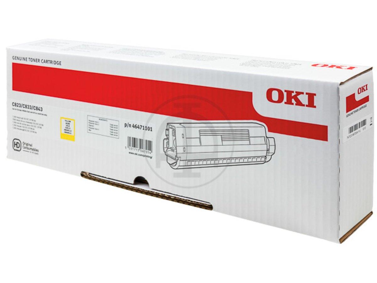 OKI 46471101 - jaune - cartouche laser d'origine