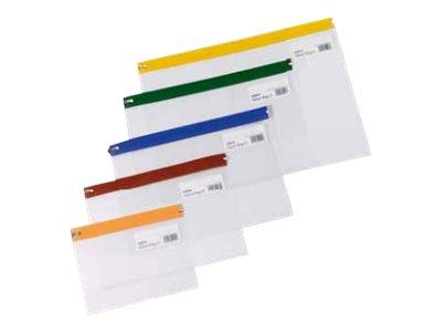Snopake Zippa-Bag - Pochette renforcée zippée - 405 x 260 mm - disponible dans différentes couleurs