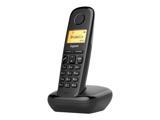 Gigaset AL170A - téléphone sans fil - avec répondeur - noir