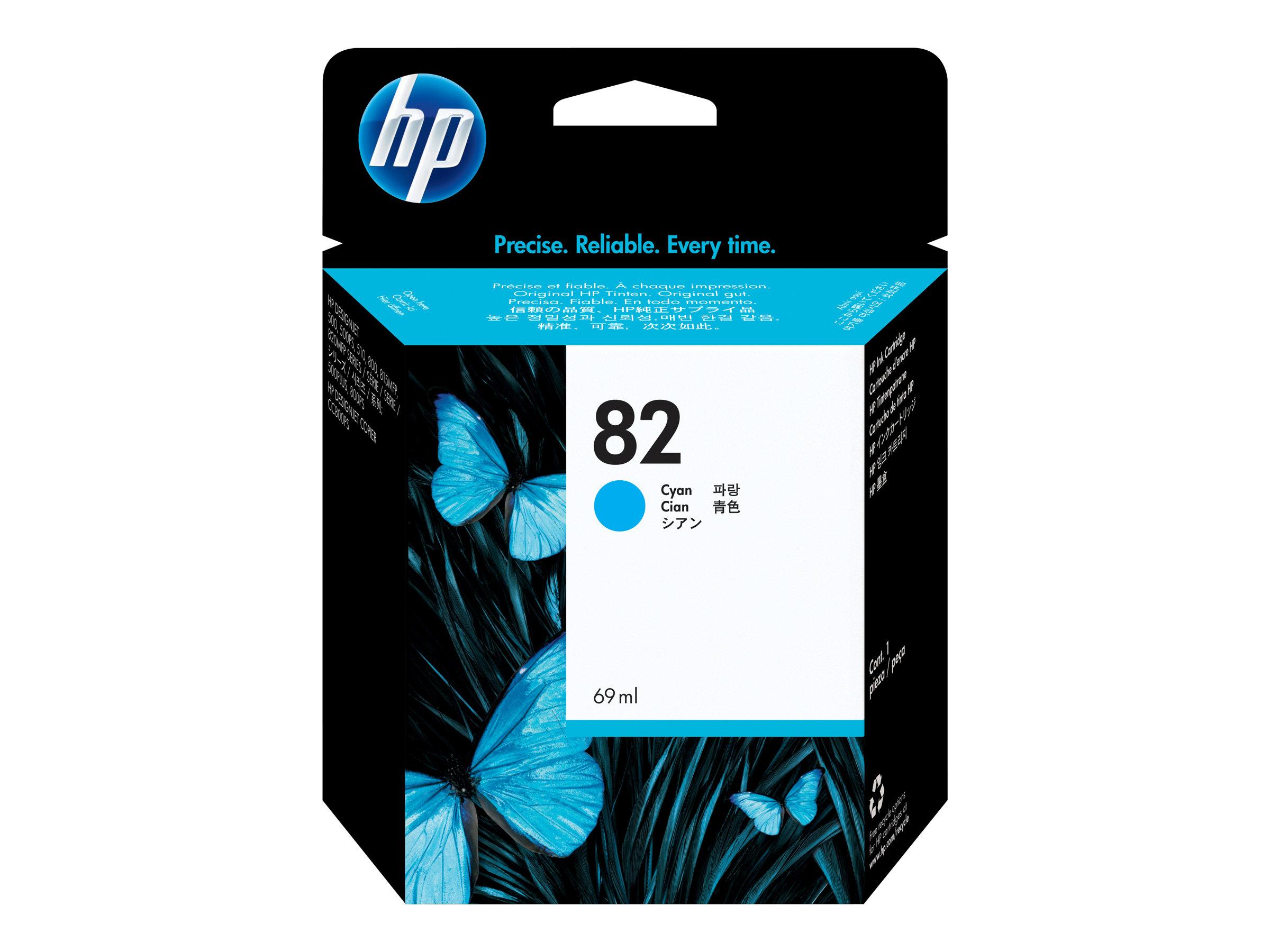 HP 82XL - Cyan - cartouche d'encre originale