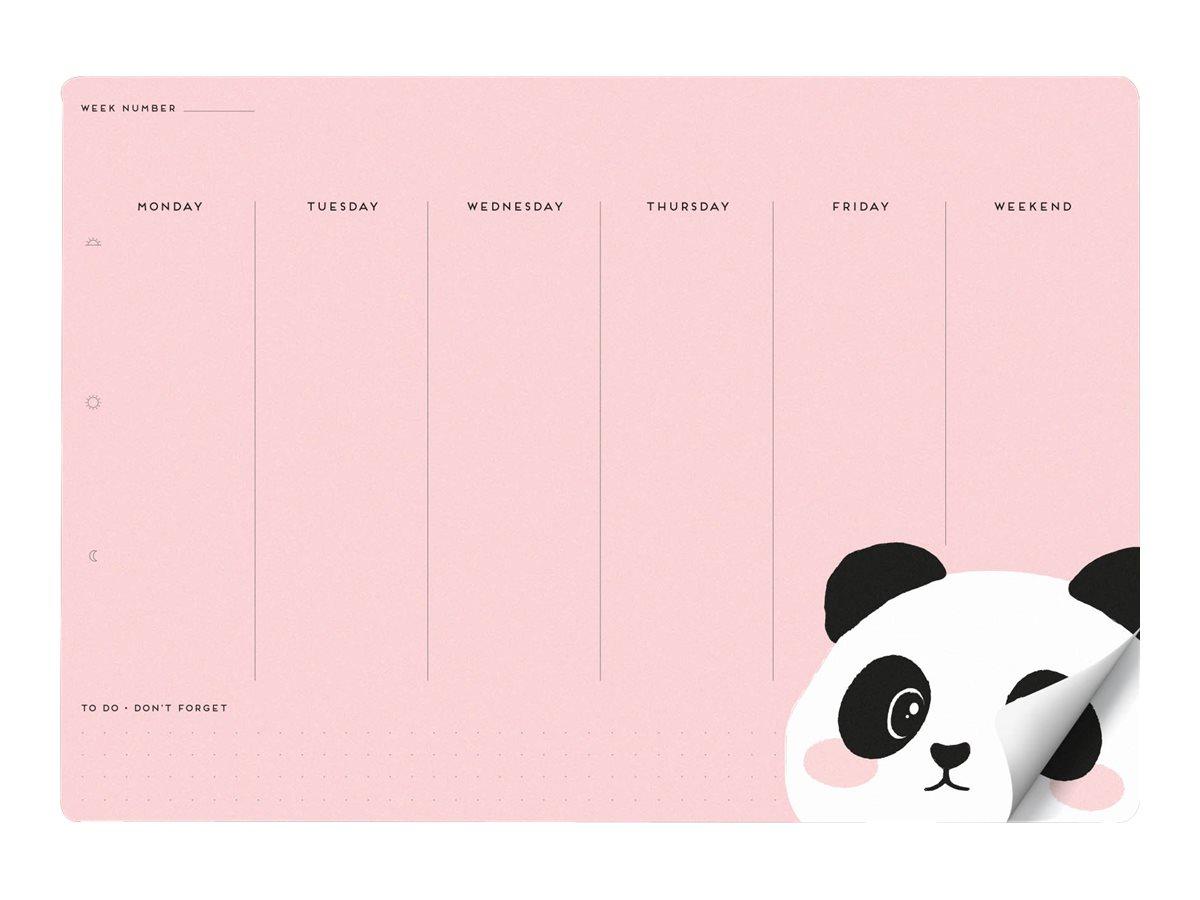 LEGAMI Panda Smart Notes - Tapis de souris en papier bloc-notes