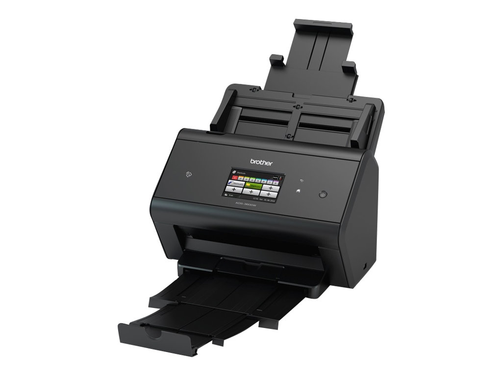 Brother ADS -3600W - scanner de documents A4 - recto-verso - USB 3.0, Wifi - 600 ppp x 600 ppp - 50ppm