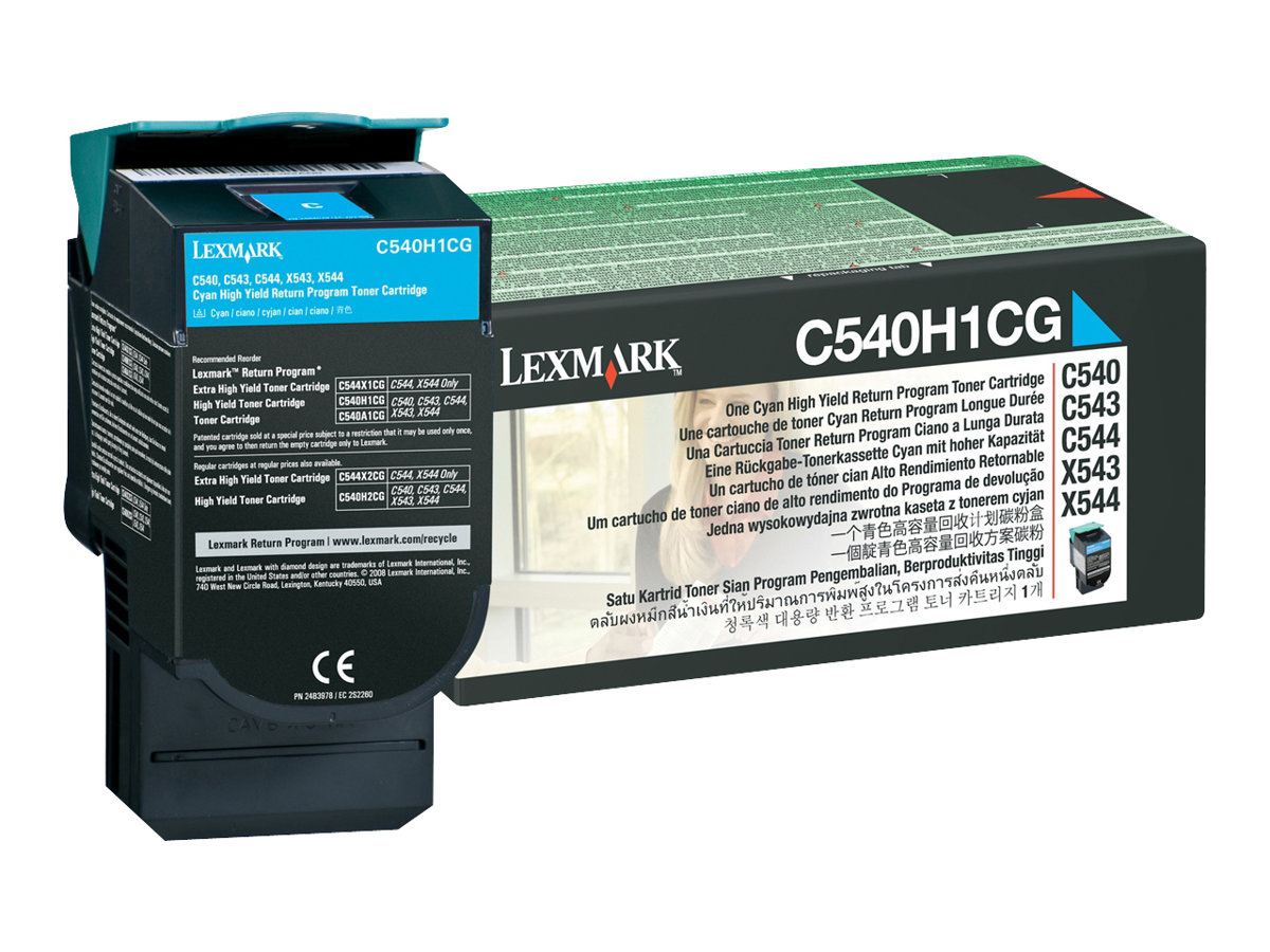 Lexmark C540H1CG - cyan - cartouche laser d'origine