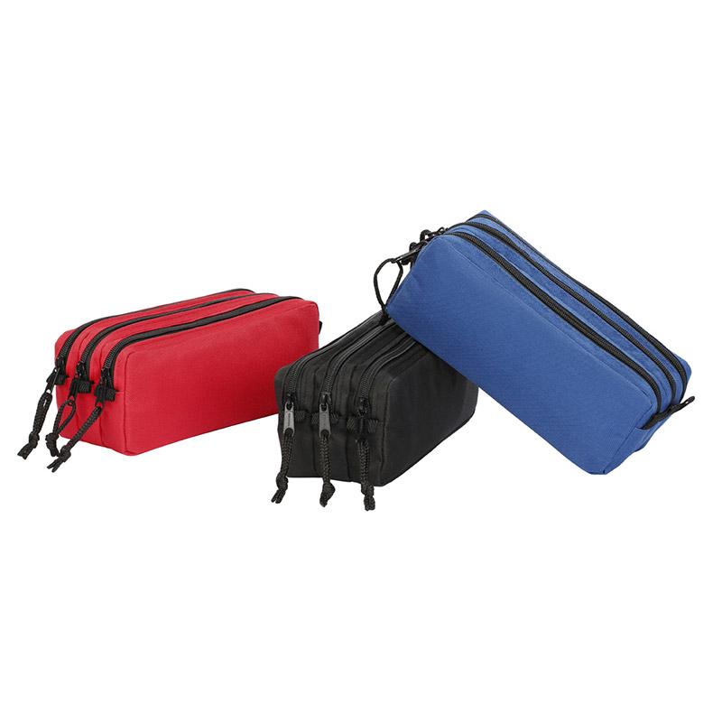 Trousse rectangulaire Trizip - 3 compartiments - 3 coloris disponibles - Viquel