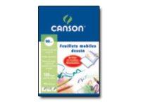 Canson - 50 feuilles à dessin - A4 - 90G - blanc