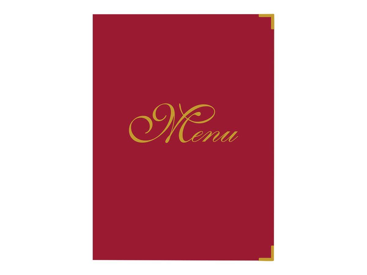 Bequet Elite - Protège-menu - 23,3 x 31,9 cm - rouge