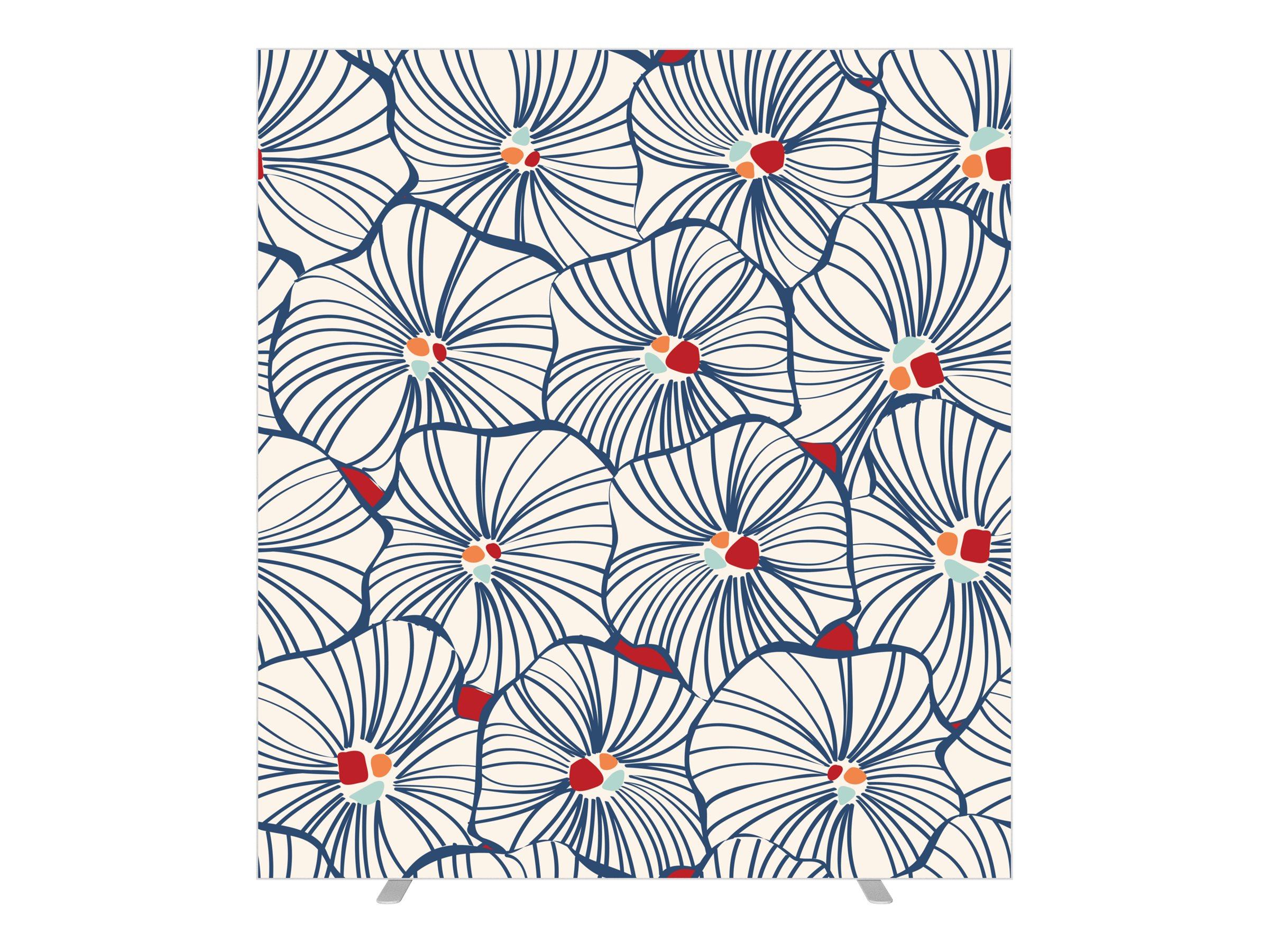 Cloison de séparation EASYSCREEN - L160 x H174 cm - bouquet blanc