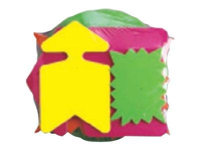Apli Agipa - 50 Cartons fluos découpés - diamètre 19 cm - jaune, vert, orange, rose
