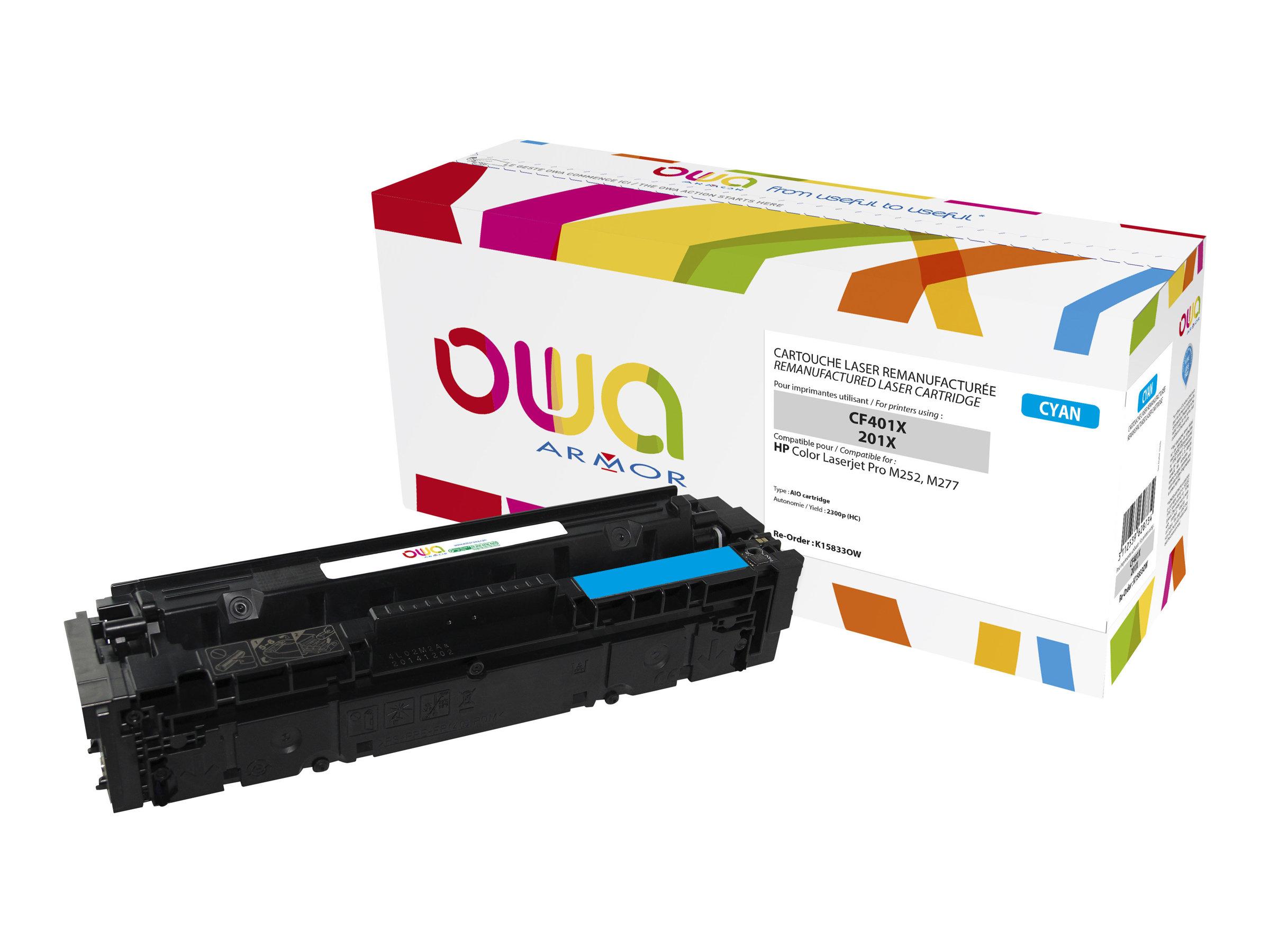 Owa K15833OW cartouche équivalente HP 201X - cyan
