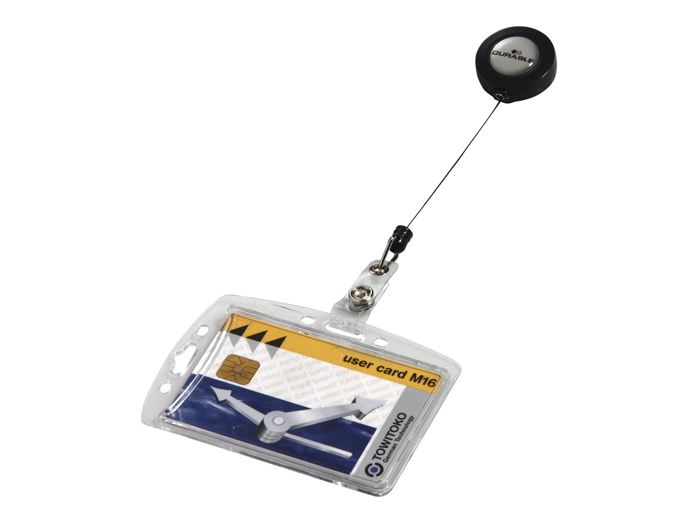 Durable - 10 Portes badge de nom avec enrouleur - 54 x 85 mm - 1 carte