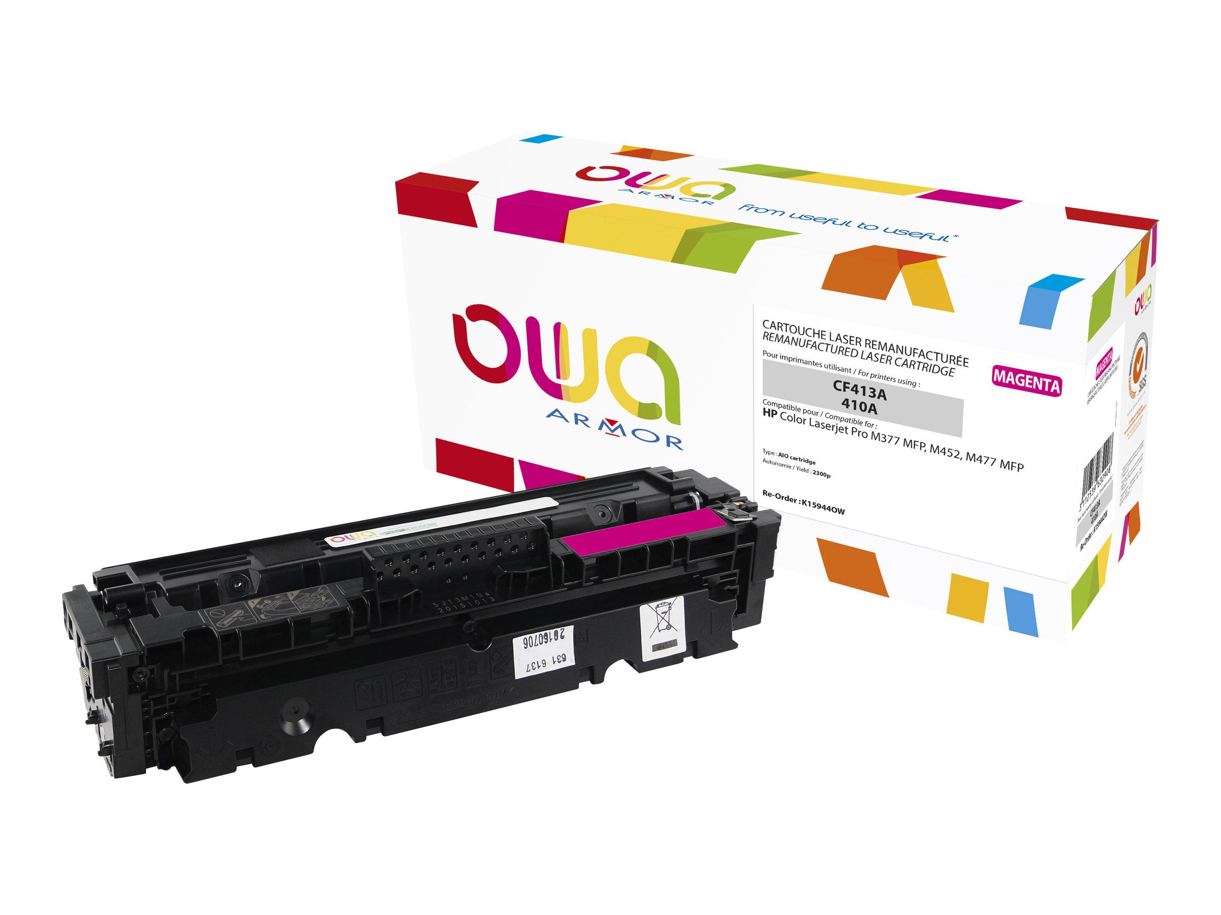 Owa K15944OW cartouche équivalente HP 410A - magenta
