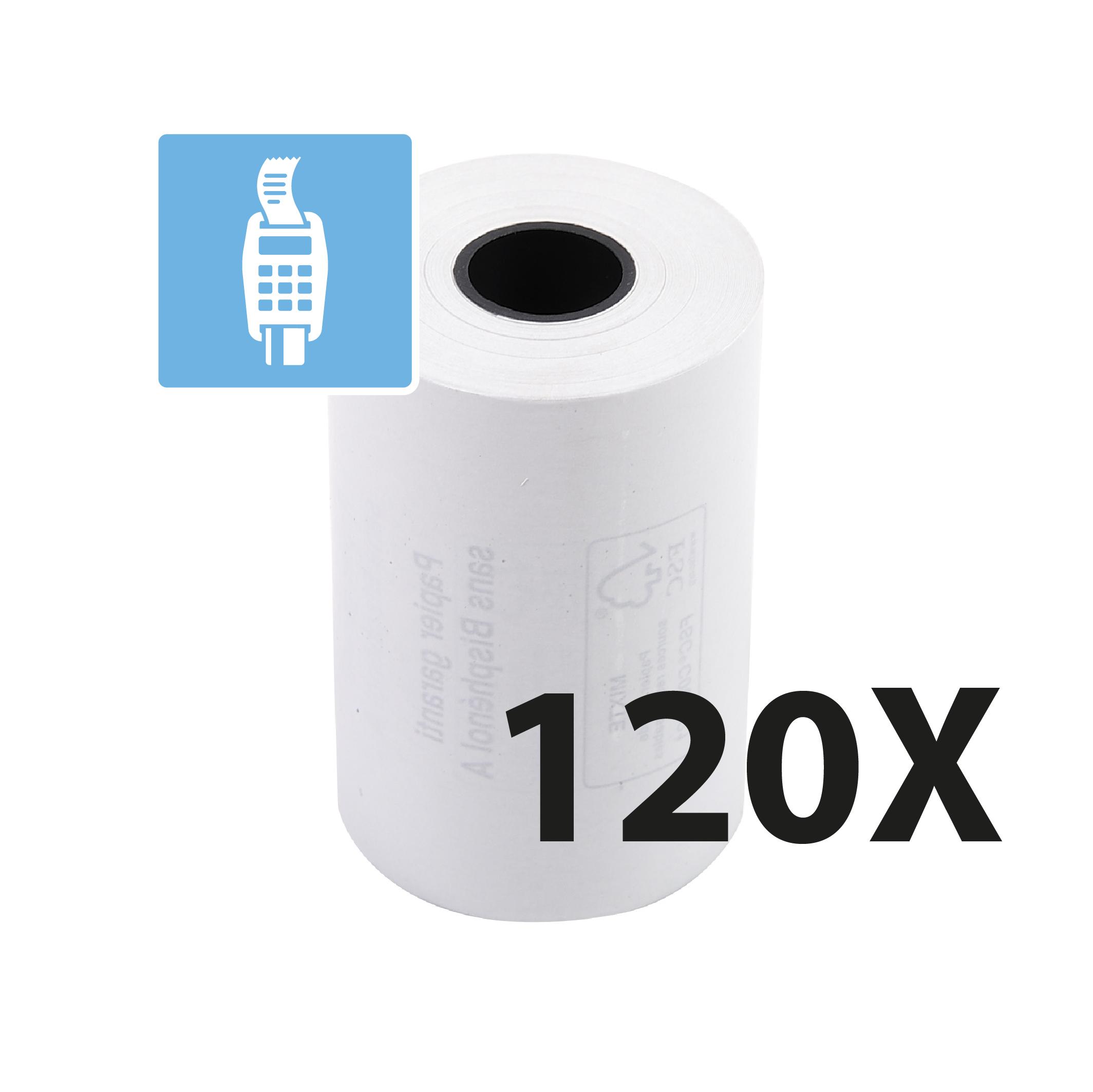Exacompta - 6 Boîtes de 20 Bobines pour TPE - papier thermique 57 x 40 x 12 mm - sans Bisphénol A