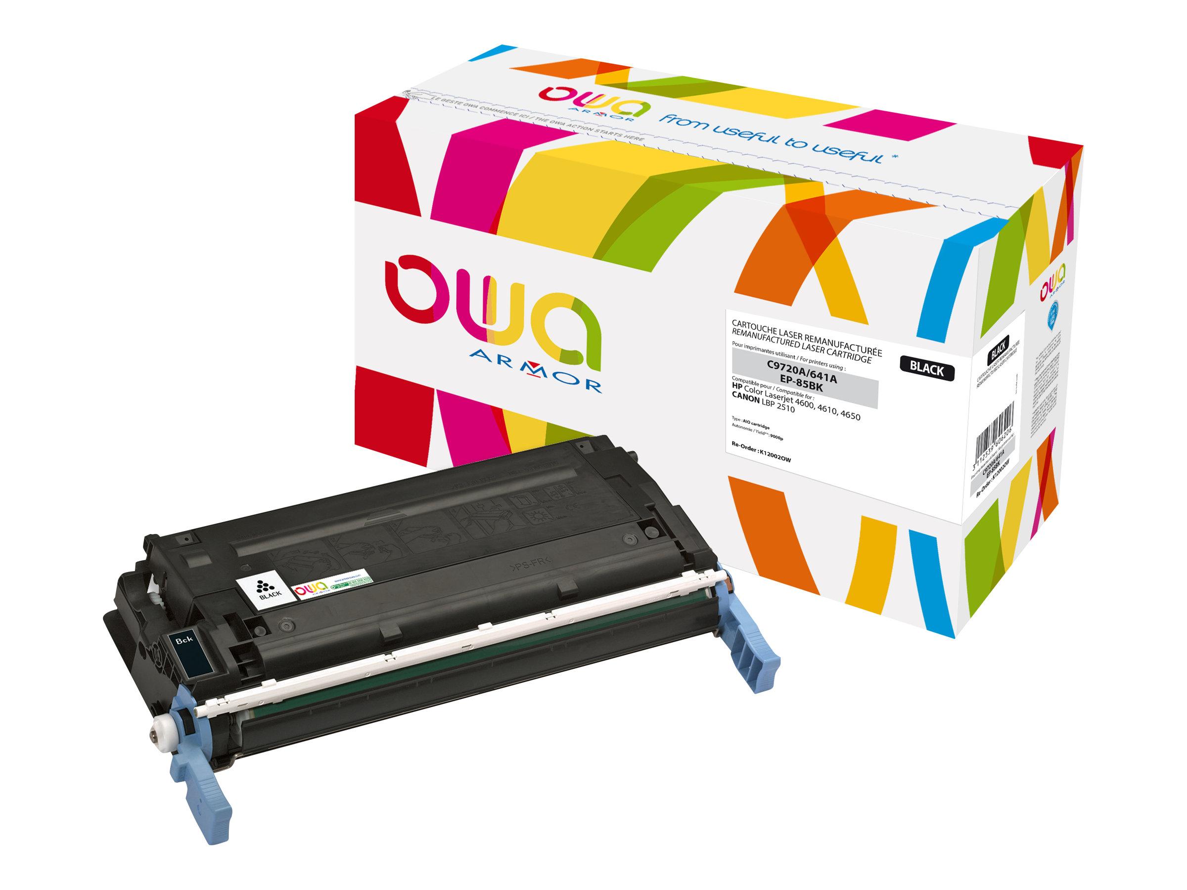 HP 641A - remanufacturé Owa K12002OW - noir - cartouche laser