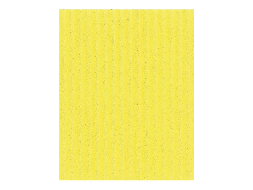 Clairefontaine - Carton ondulé - rouleau de 70 x 50 cm - 300 g/m² - jaune