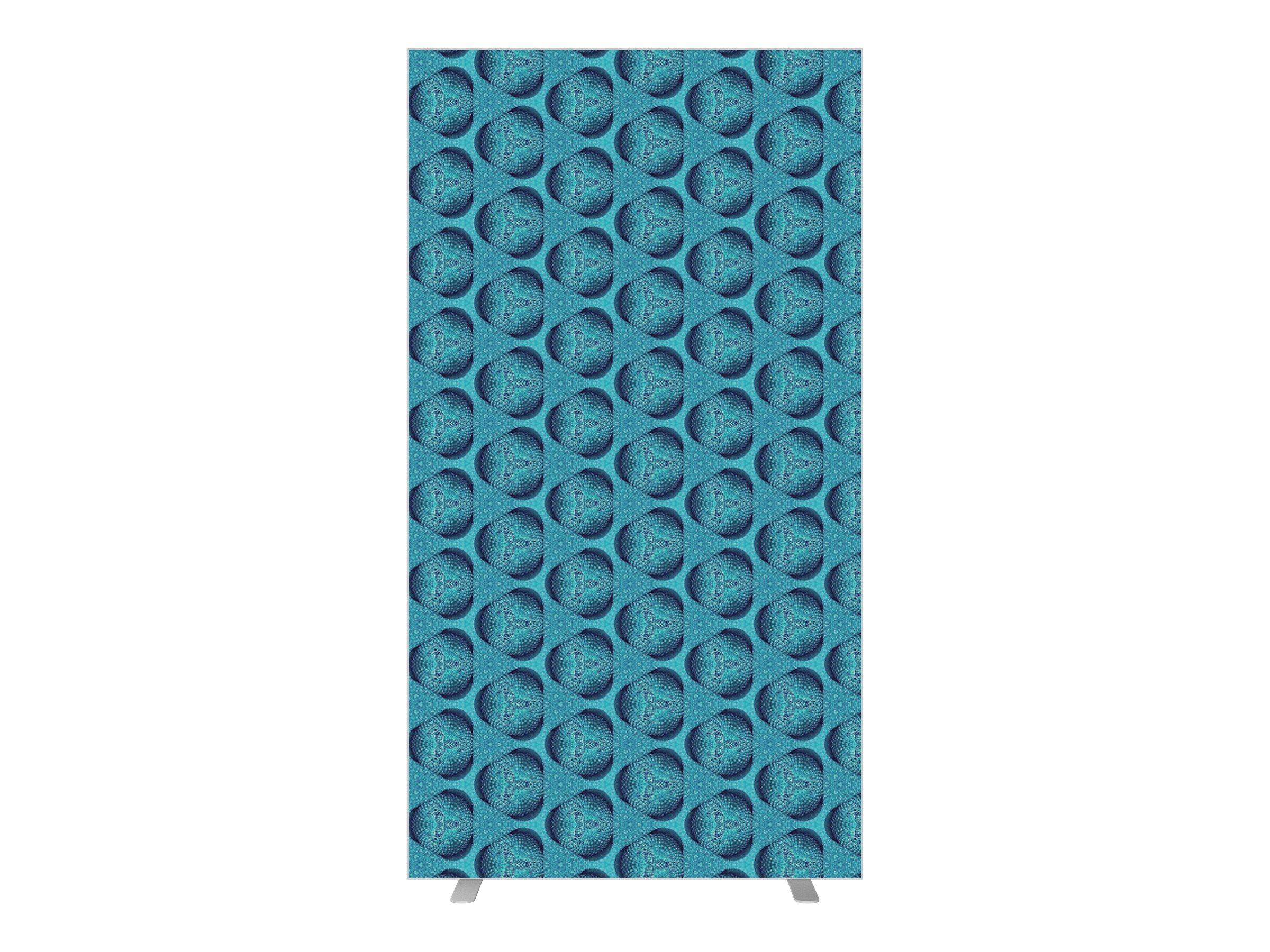 Cloison de séparation EASYSCREEN - L94 x H174 cm - mosaïque bleue