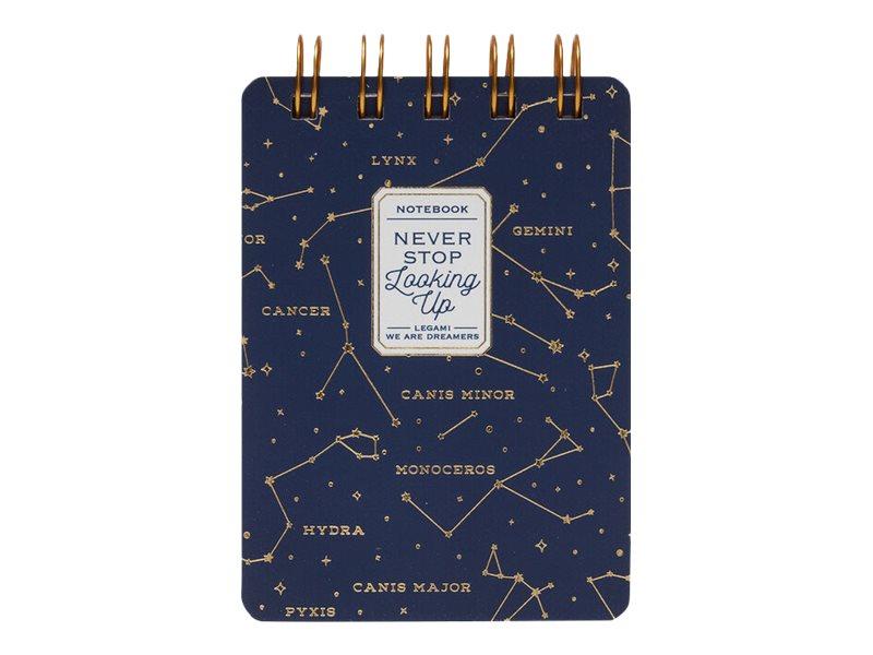 Legami - Mini carnet à spirale - motif stars