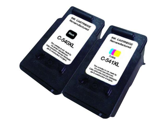 Canon PG-540XL/CL-541XL - remanufacturé UPrint C.540/541XL - pack de 2 - noir, cyan, magenta, jaune - cartouche d'encre