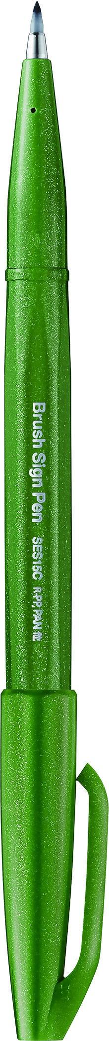 Pentel Sign pen - Feutre pinceau à pointe souple - vert olive