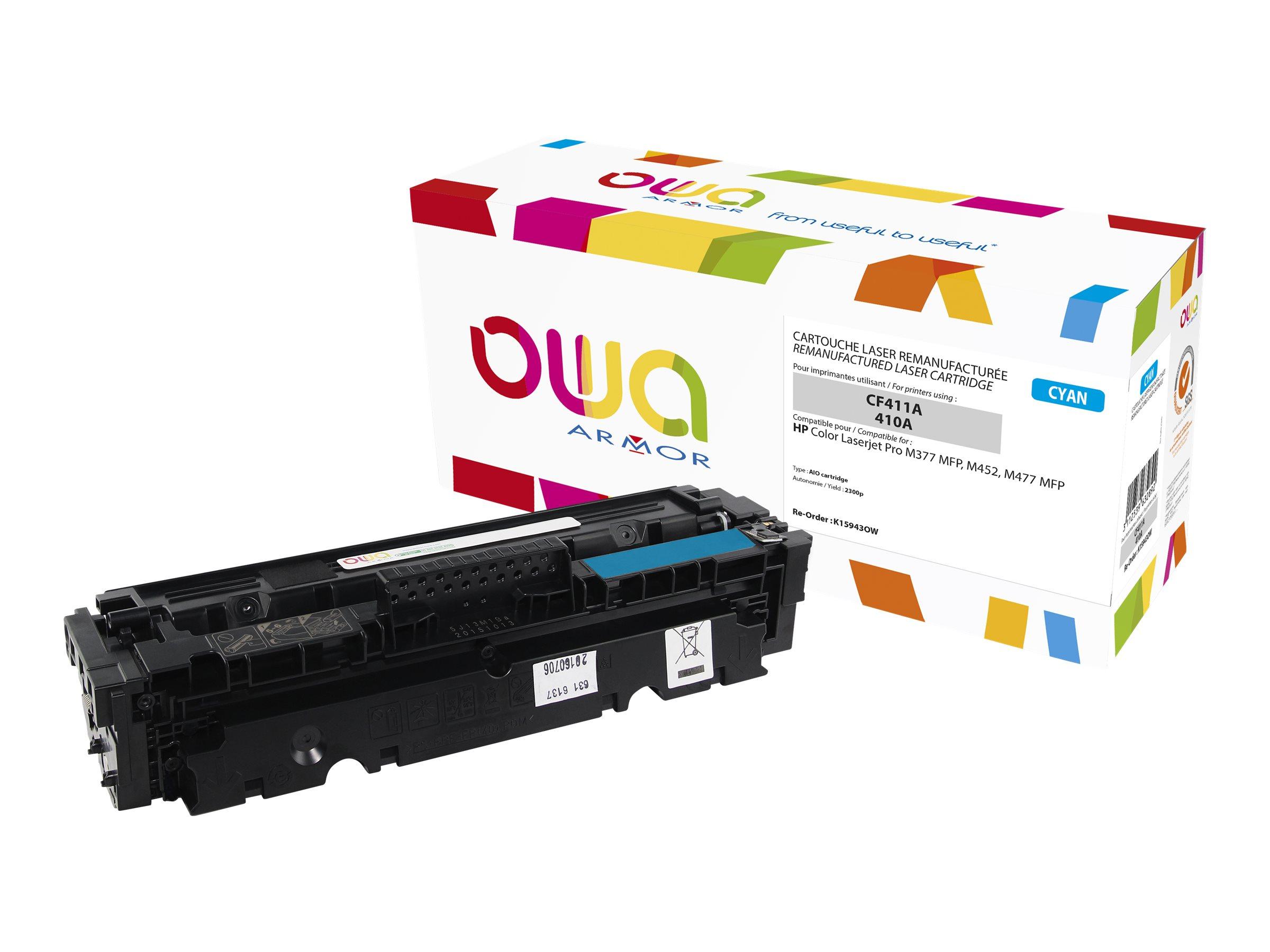 Owa K15943OW cartouche équivalente HP 410A - cyan