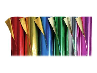 Clairefontaine - Papier aluminium double face - rouleau 80 x 50 cm - 90 g/m² - or