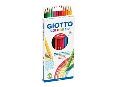 GIOTTO Colors 3.0 - 24 Crayons de couleur