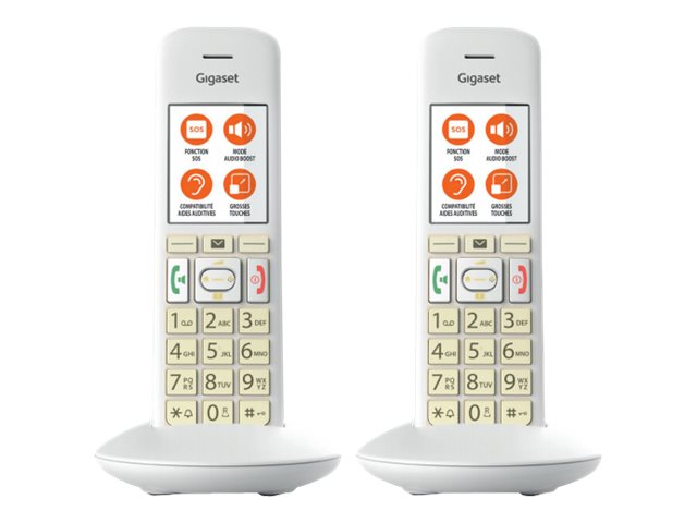 Gigaset E370 Duo - téléphone sans fil avec ID d'appelant + combiné supplémentaire